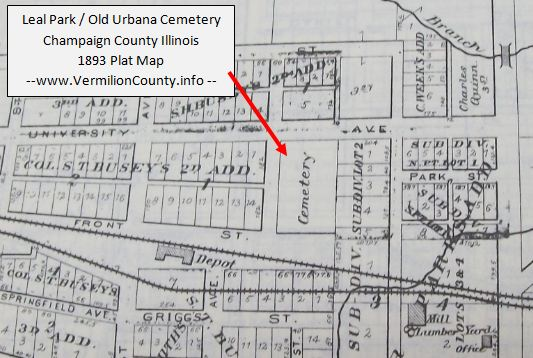 Leal Park Champaign County Plat Map on